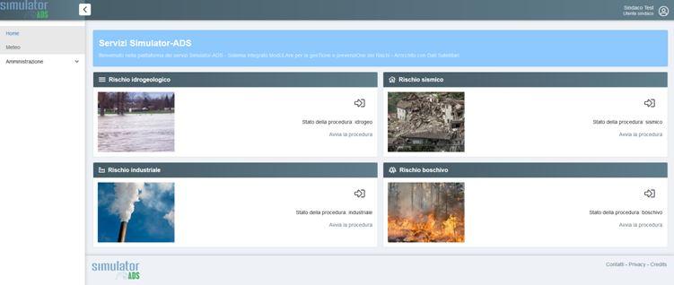 simulator ads piattaforma innovativa per la protezione civile a livello locale e regionale