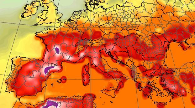 caldo temperature europa