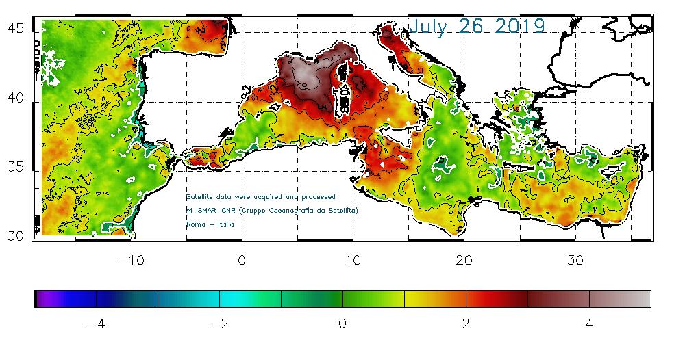 mediterraneo caldo temperatura