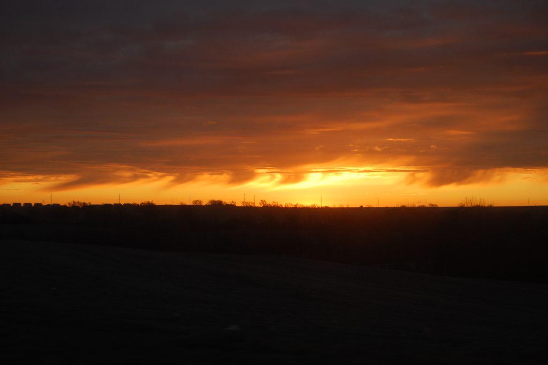Virga fotografata prima del tramonto