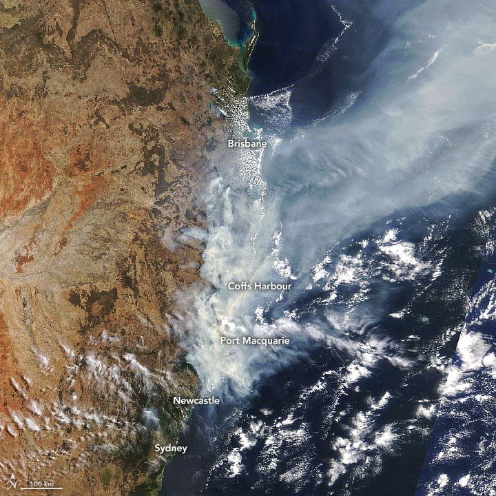 Incendi in Autralia. Foto NASA Earth Observatory