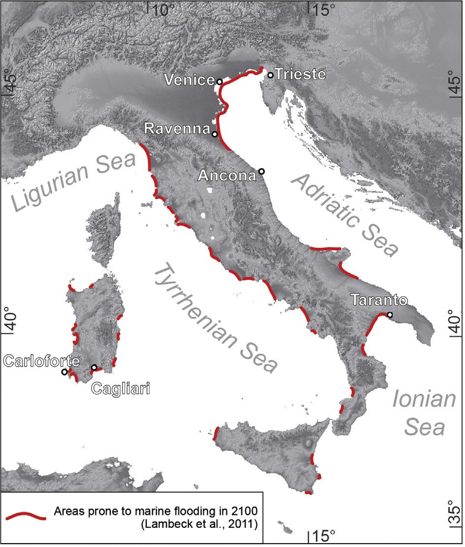 livello mare venezia
