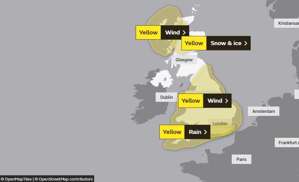 È ancora allerta in molte zone del Regno Unito per gli effetti della tempesta Brendan.