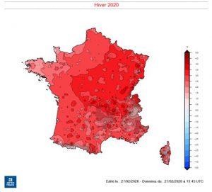 inverno caldo record francia