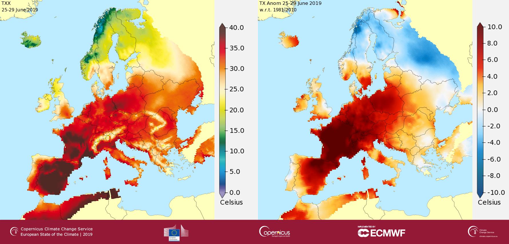 caldo europa estate 2019