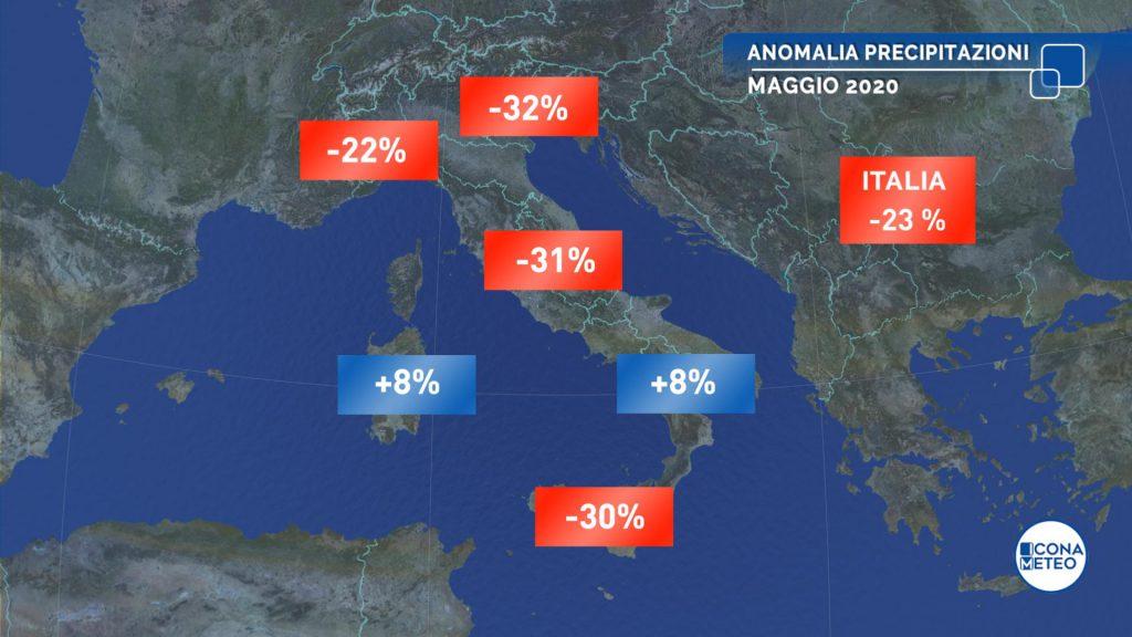 Maggio 2020: per l'Italia un mese molto caldo e secco
