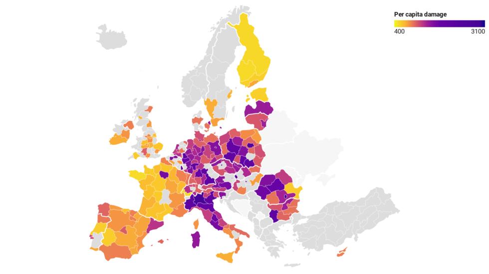 inquinamento costi europa