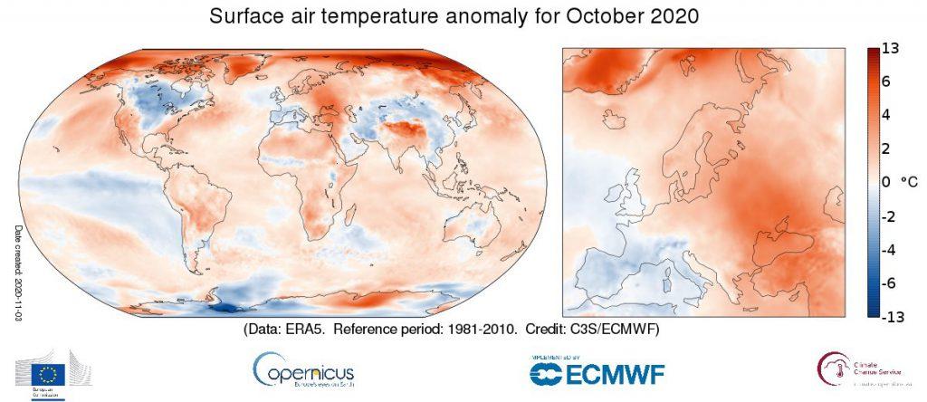 clima europa ottobre