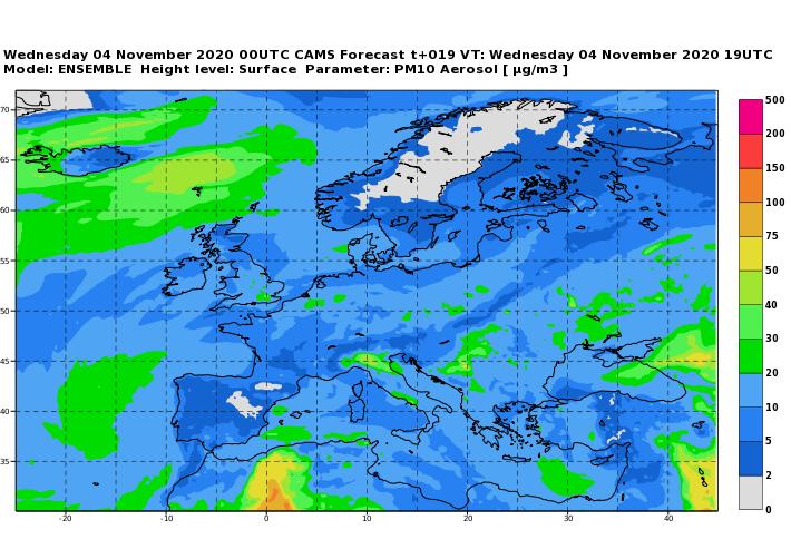 inquinamento europa 4 novembre