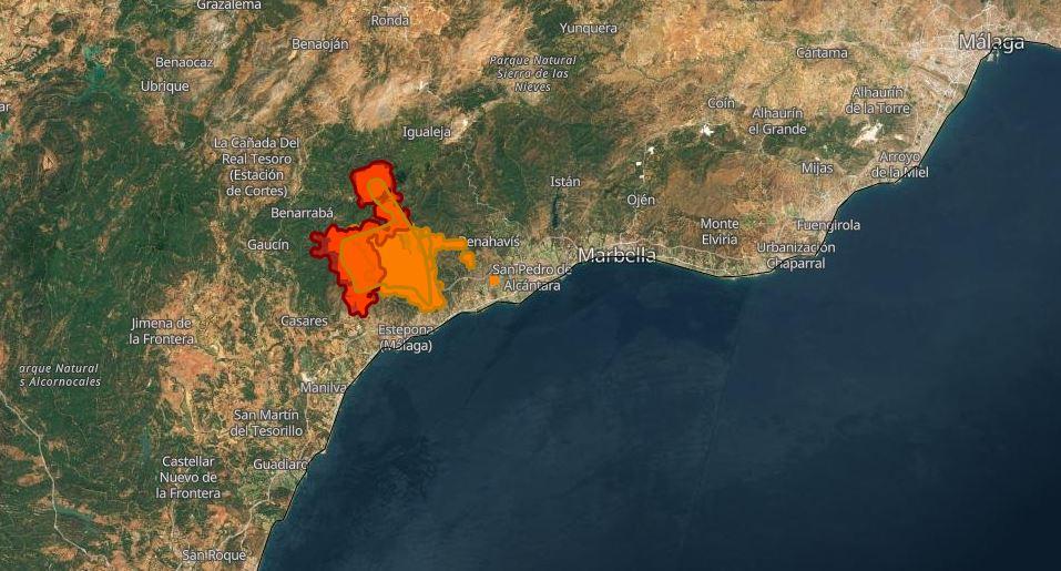 incendio andalusia malaga
