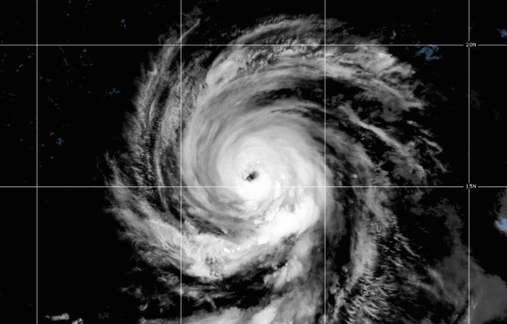L'uragano Larry oggi