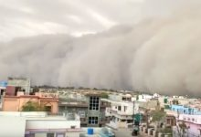 Tempesta di sabbia in India