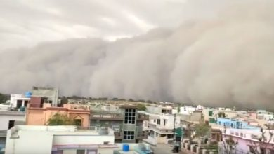 Tempesta di sabbia in India