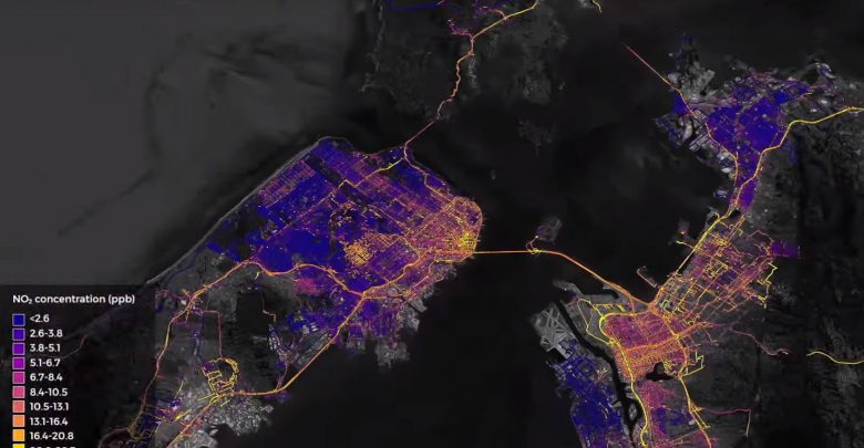 inquinamento aria google street view