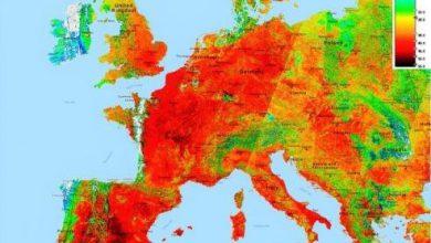 uomo cambiamenti climatici ondate di caldo