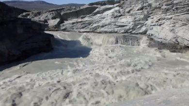 fiume ghiaccio groenlandia