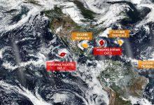 Non solo Dorian: nella zona ci sono tre cicloni tropicali e un altro uragano