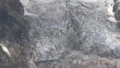 ghiacciaio monte bianco video time lapse