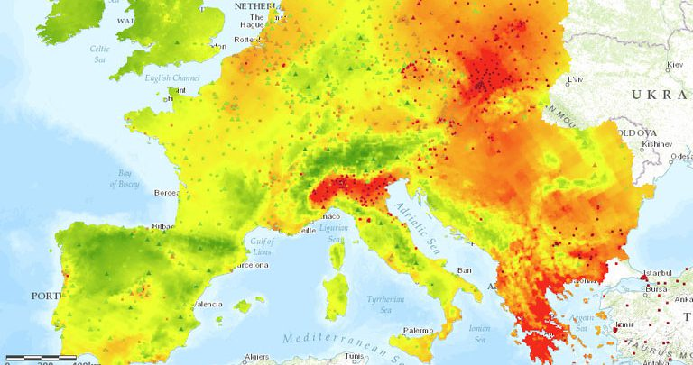 inquinamento temperature