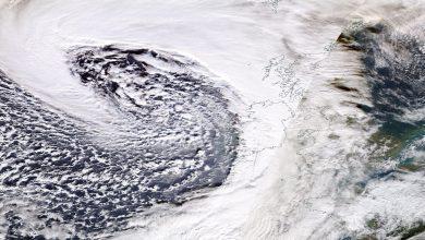 La tempesta Brendan fotografata ieri dai satelliti della NASA