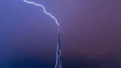 Dubai tempesta Burj Khalifa