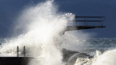 vento tempesta ciara lago ginevra
