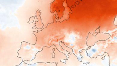 europa caldo gennaio
