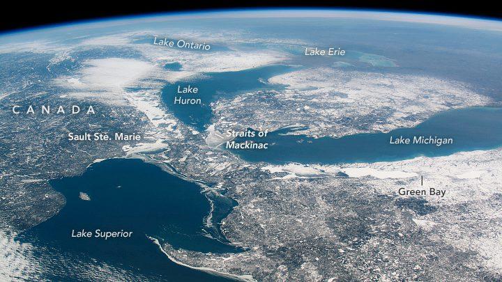 grandi laghi ghiaccio