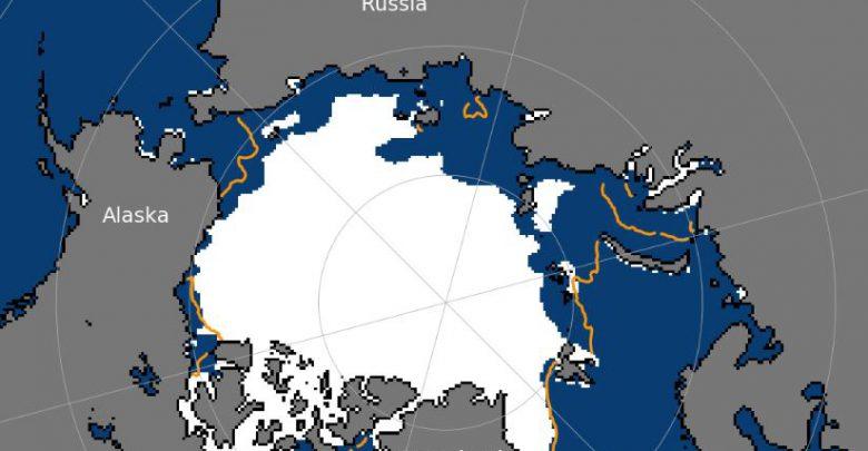 ghiaccio artico record luglio