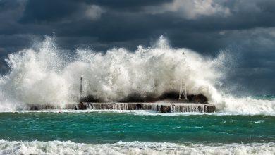vento onde freddo meteo mare mareggiata