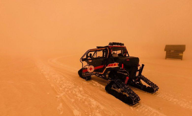 Sabbia del Sahara sull'Italia, febbraio 2021