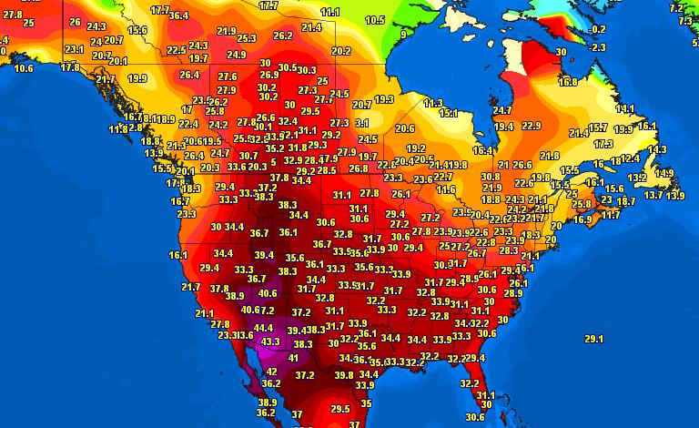 Stati Uniti caldo
